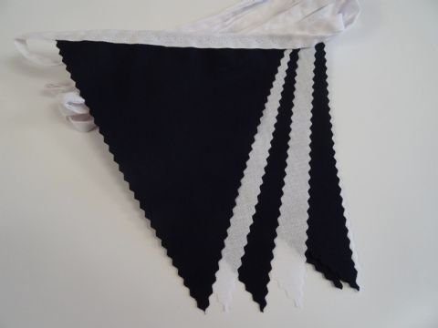 BUNTING White & Black on White Tape - 3m/10ft or 5m/16ft